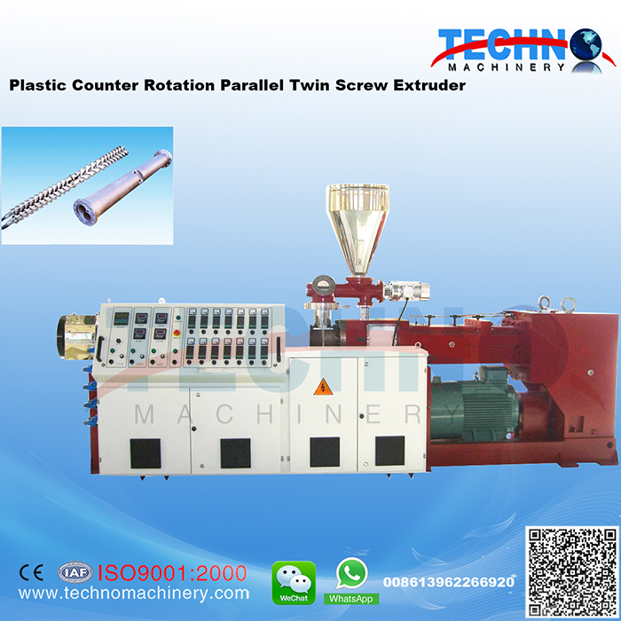 Plastic Counter Rotating Parallel Twin Screw Extruder