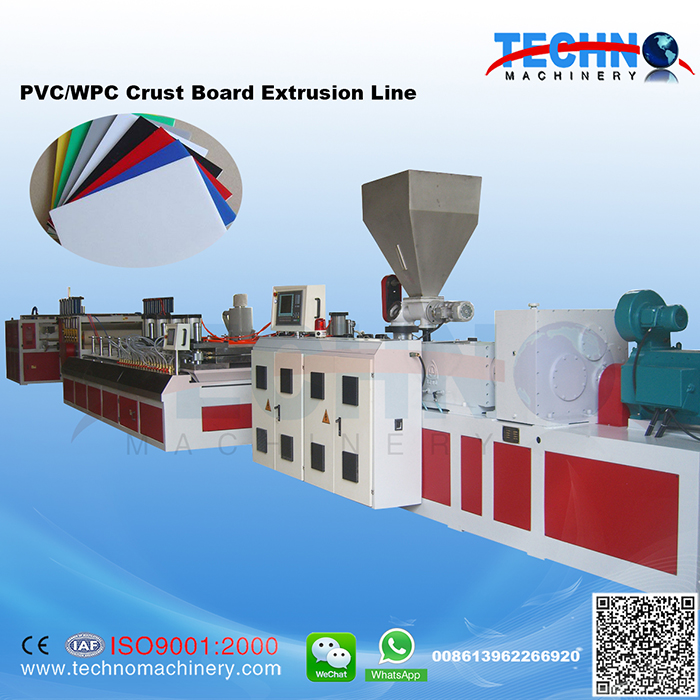 PVC Skinning and Foaming Plate Extrusion Line