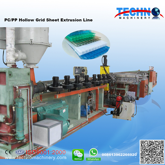 PP/PC Hollow Grid Plate Extrusion Line