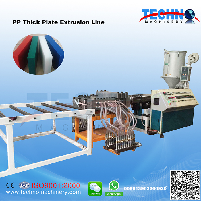 PP Cold Push Plate Extrusion Line