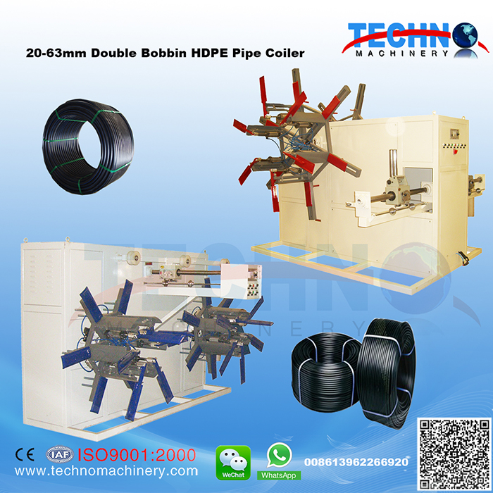 PE Pipe Double Disk Coiler