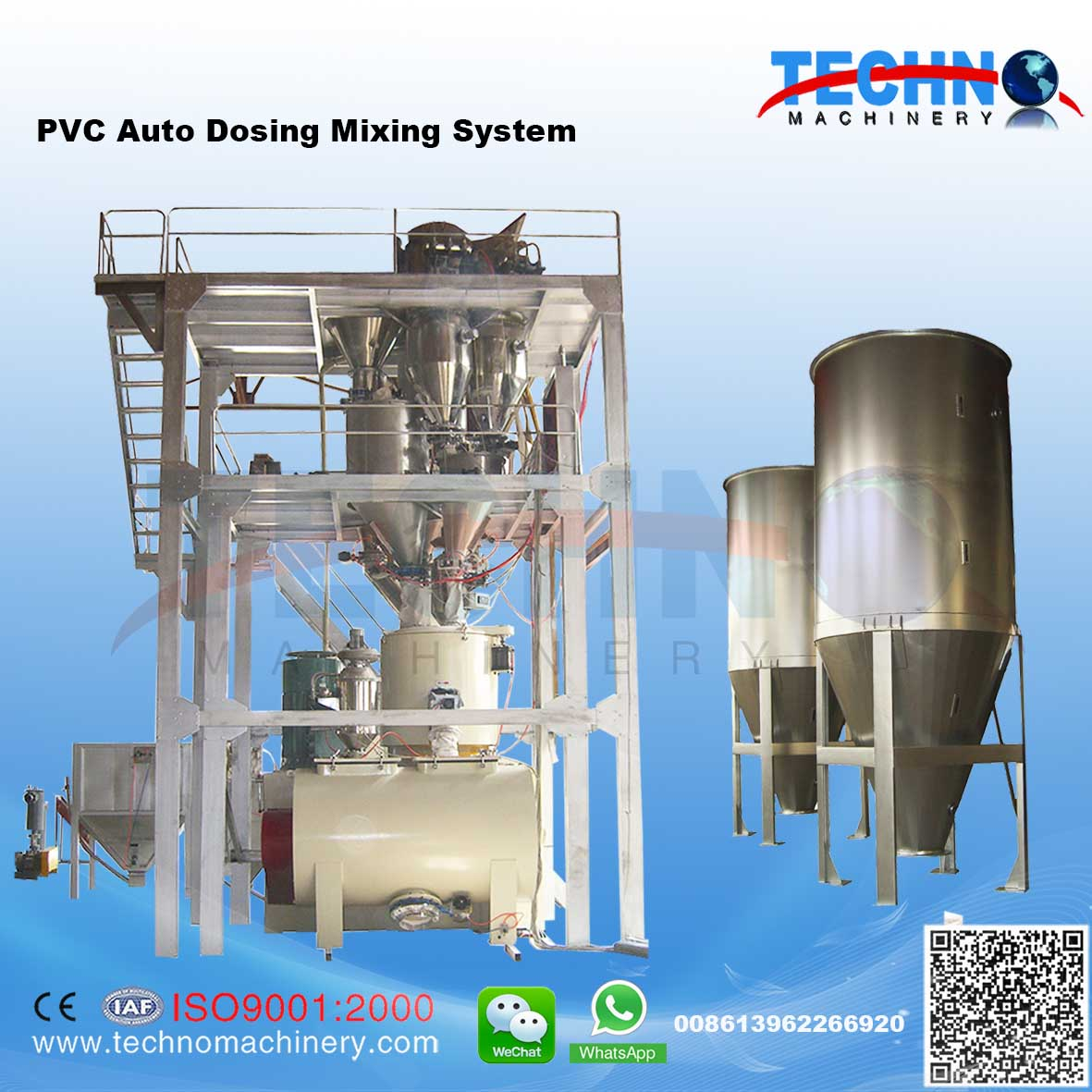 Pneumatic PVC Bulk Material Handling System/PVC Compounding System