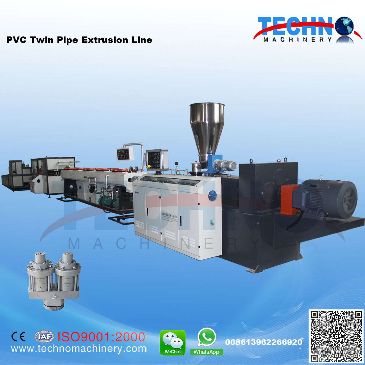 PVC Twin Pipe/Four Pipe Extrusion/Production Line